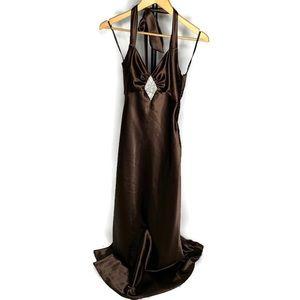 Jessica McClintock Gunne Sax Halter Maxi Dress